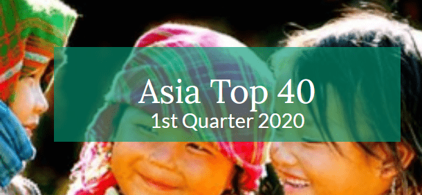 Asia Top 40 – 1st Quarter 2020