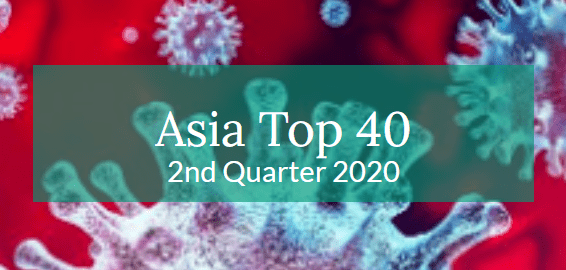 Asia Top 40 – 2nd Quarter 2020